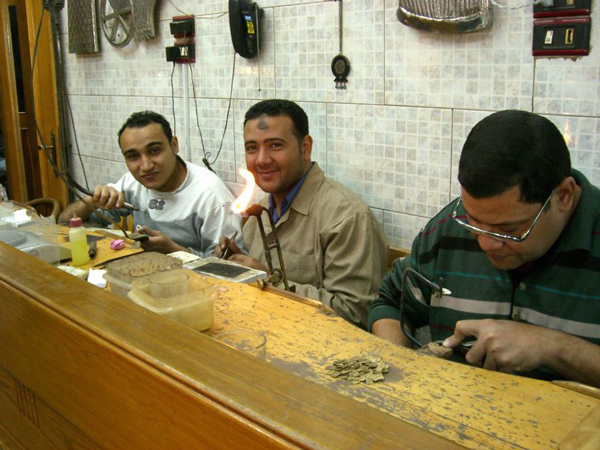 Spending a few days in Cairo, Egypt :: Jewelry makers