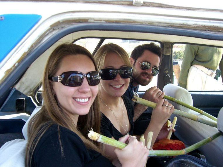 Luxor Egypt - A Roadstop Sugarcane Break