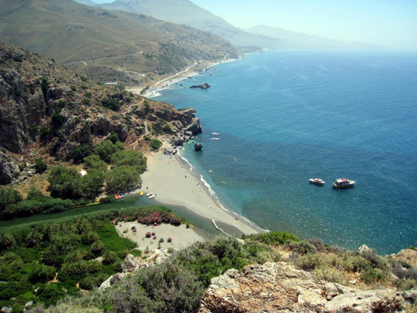 Exploring Crete, Greece - Prevali Beach
