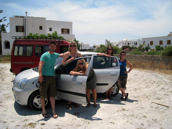 Santorini Greece - Renting a car