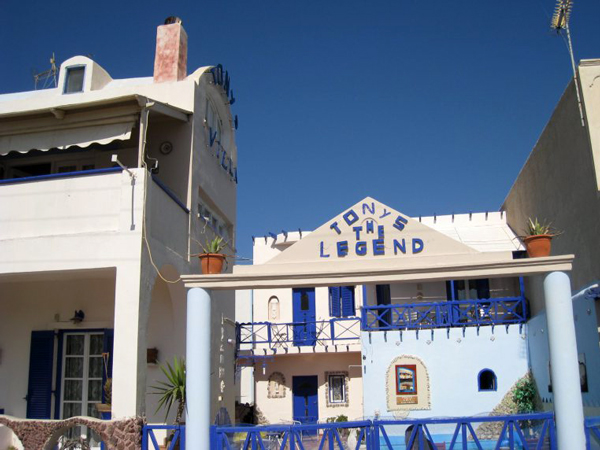 Santorini Greece - Tony the Legend Hostel
