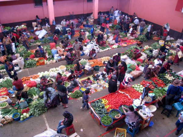 Vegetable Market Lake Atitlan Guatemala