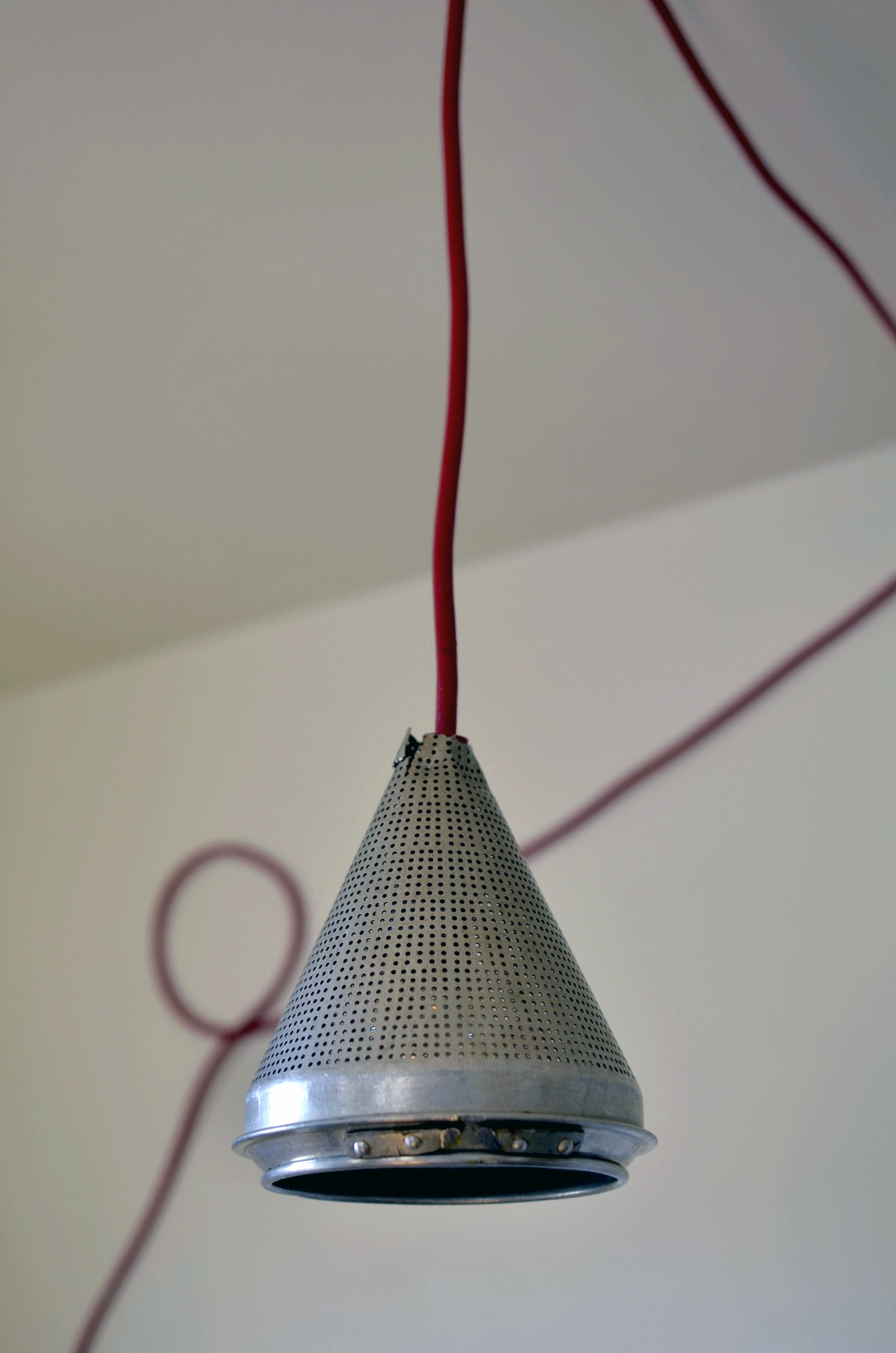 Colored Cord Hanging Lamp DIY - A Side of Sweet