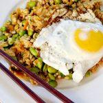 Fried Kimchi Rice Edamame Egg Recipe