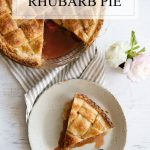 This is my favorite pie EVER! Recipe for how to make rhubarb pie!