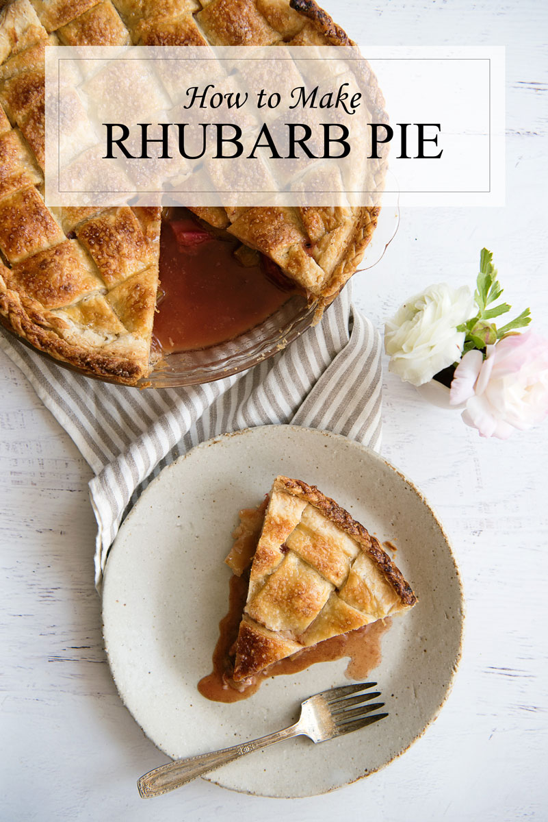 My favorite pie EVER! Recipe for how to make rhubarb pie!