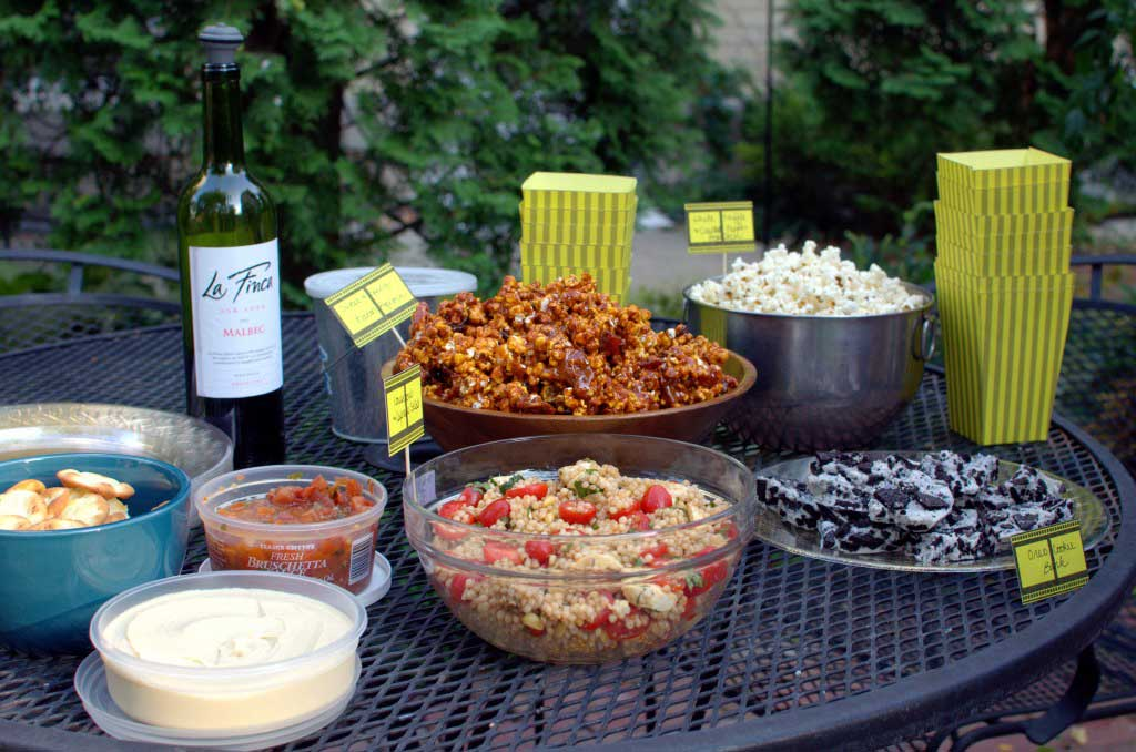 Host a Backyard Movie Night + Food and Setup Ideas