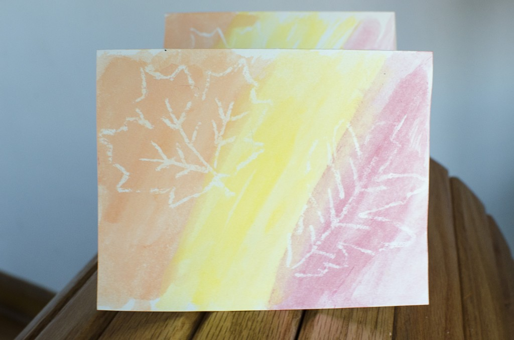 Easy Fall Leaf Watercolor Cards | Running Blonde