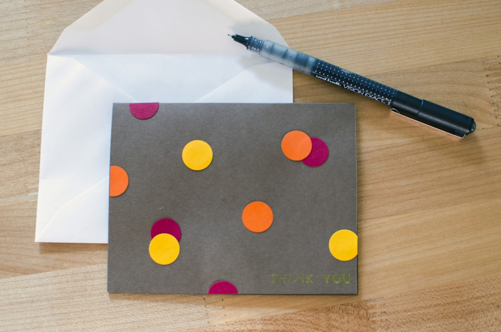 Easy Punch Dot Greeting Cards   Running Blonde