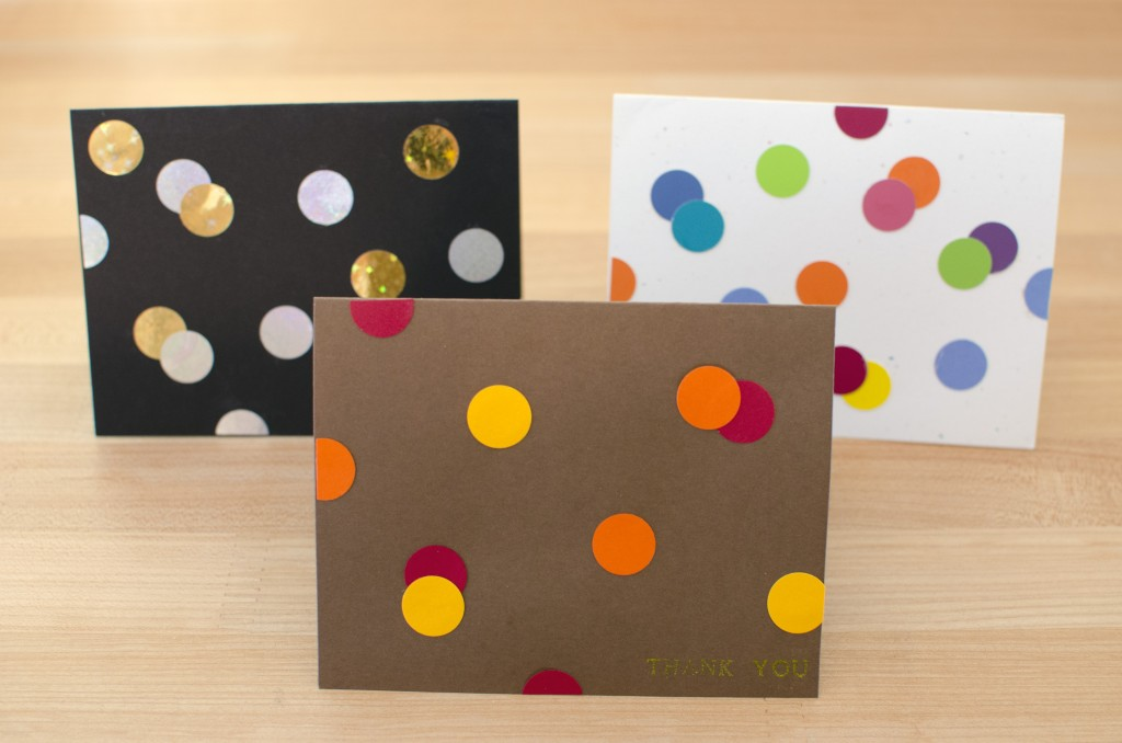 Easy Punch Dot Greeting Cards | Running Blonde