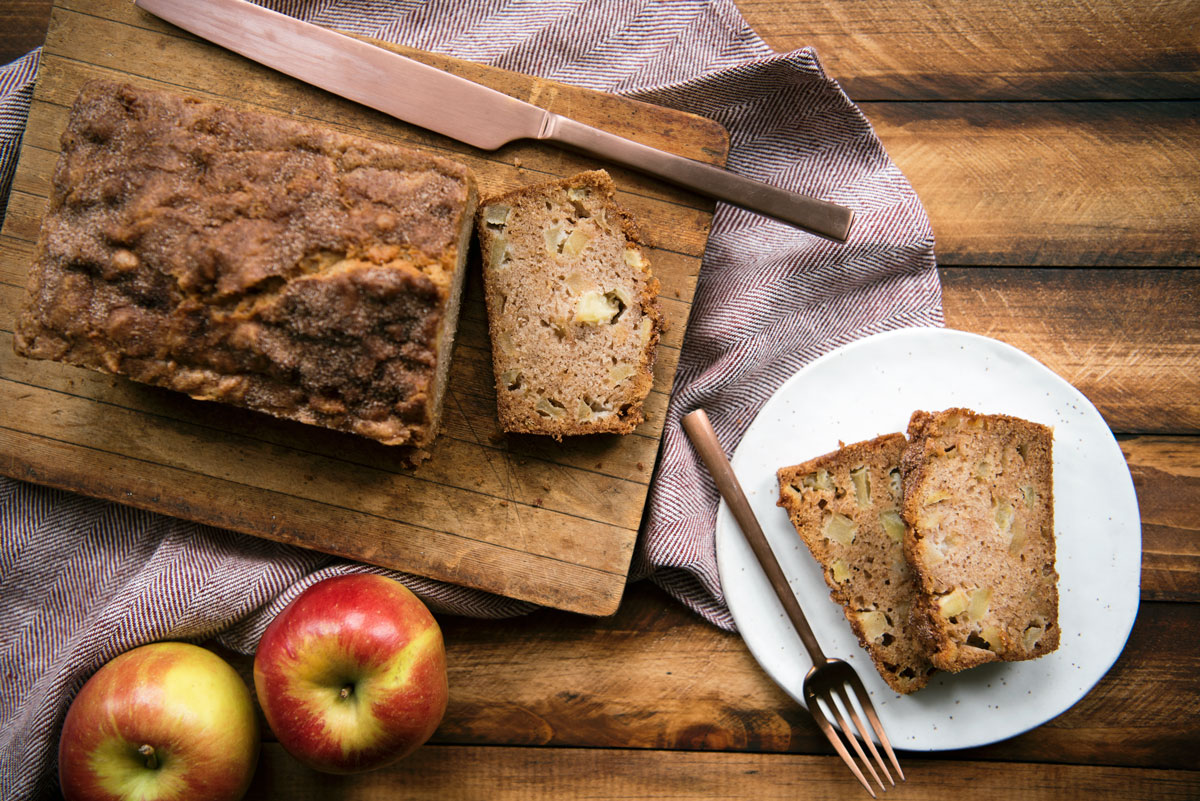 Amazing Quick Apple Bread Recipe with Cinnamon Sugar