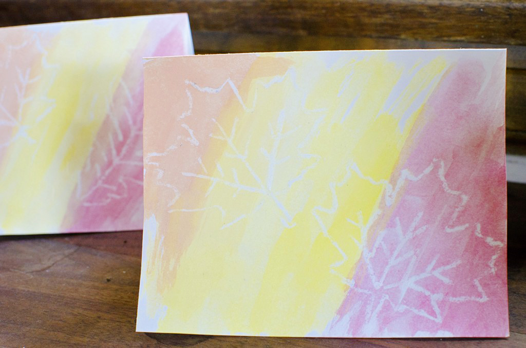 Easy fall watercolor cards running blonde easy diy watercolor greeting cards and thank you notes m4hsunfo