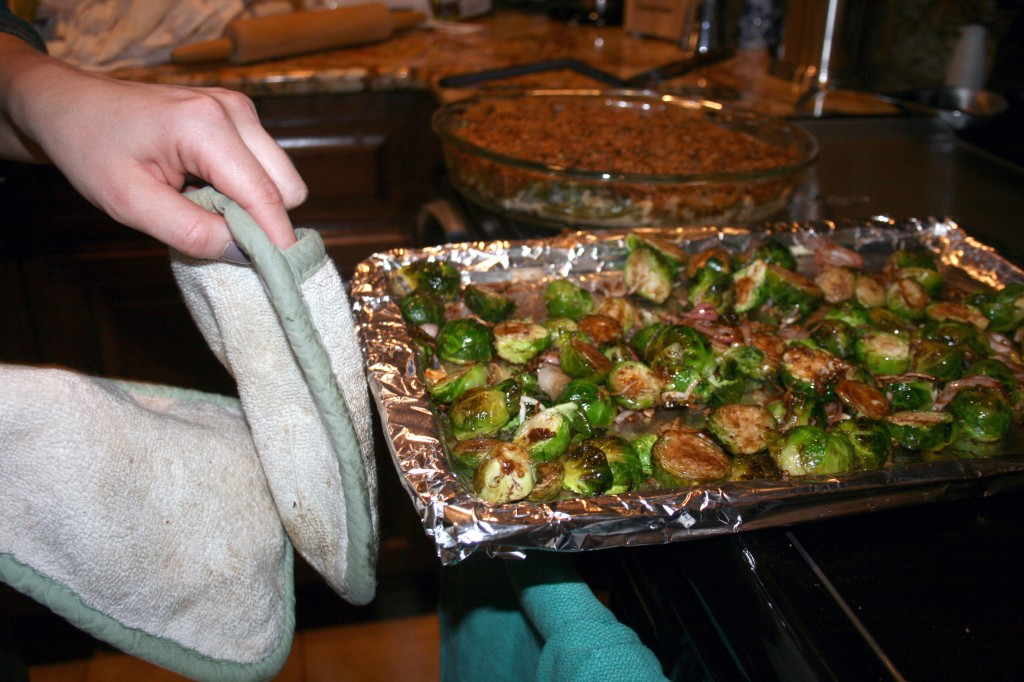 Thanksgiving Brussels Sprouts | Running Blonde