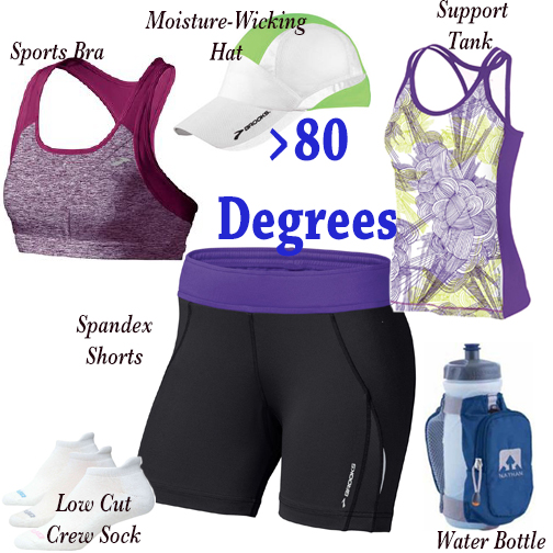 what to wear to run in hot weather