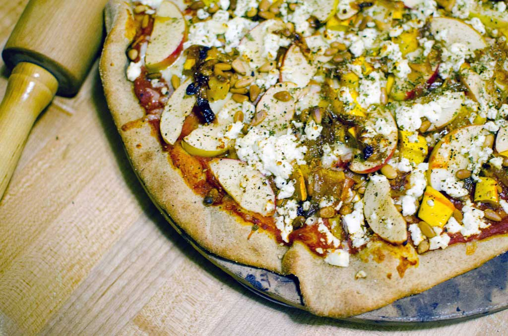 Feta, Delicata Squash and Apple Winter Pizza Recipe