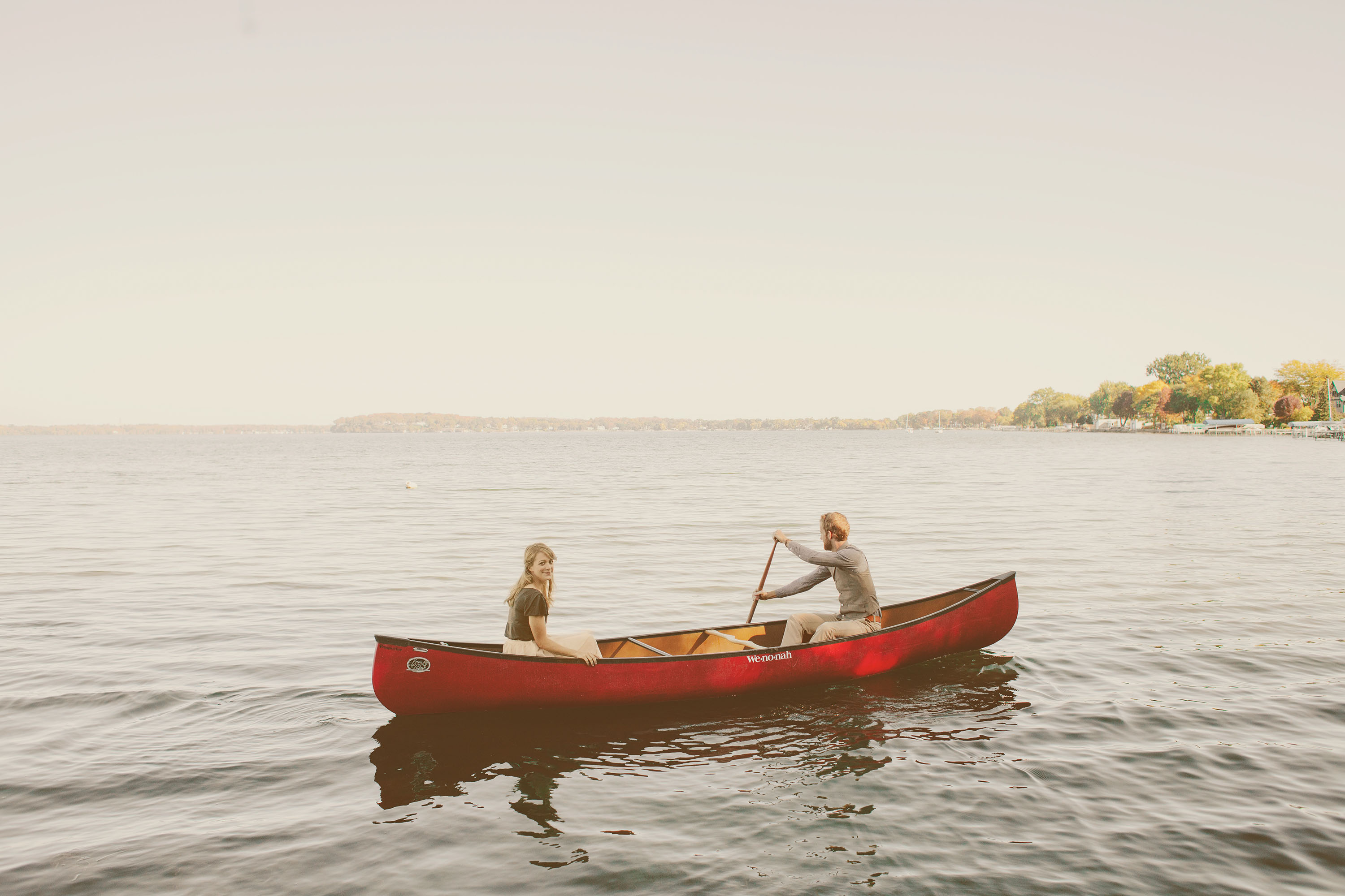 Kinsey Mhire Photography | Canoe Engagement Session