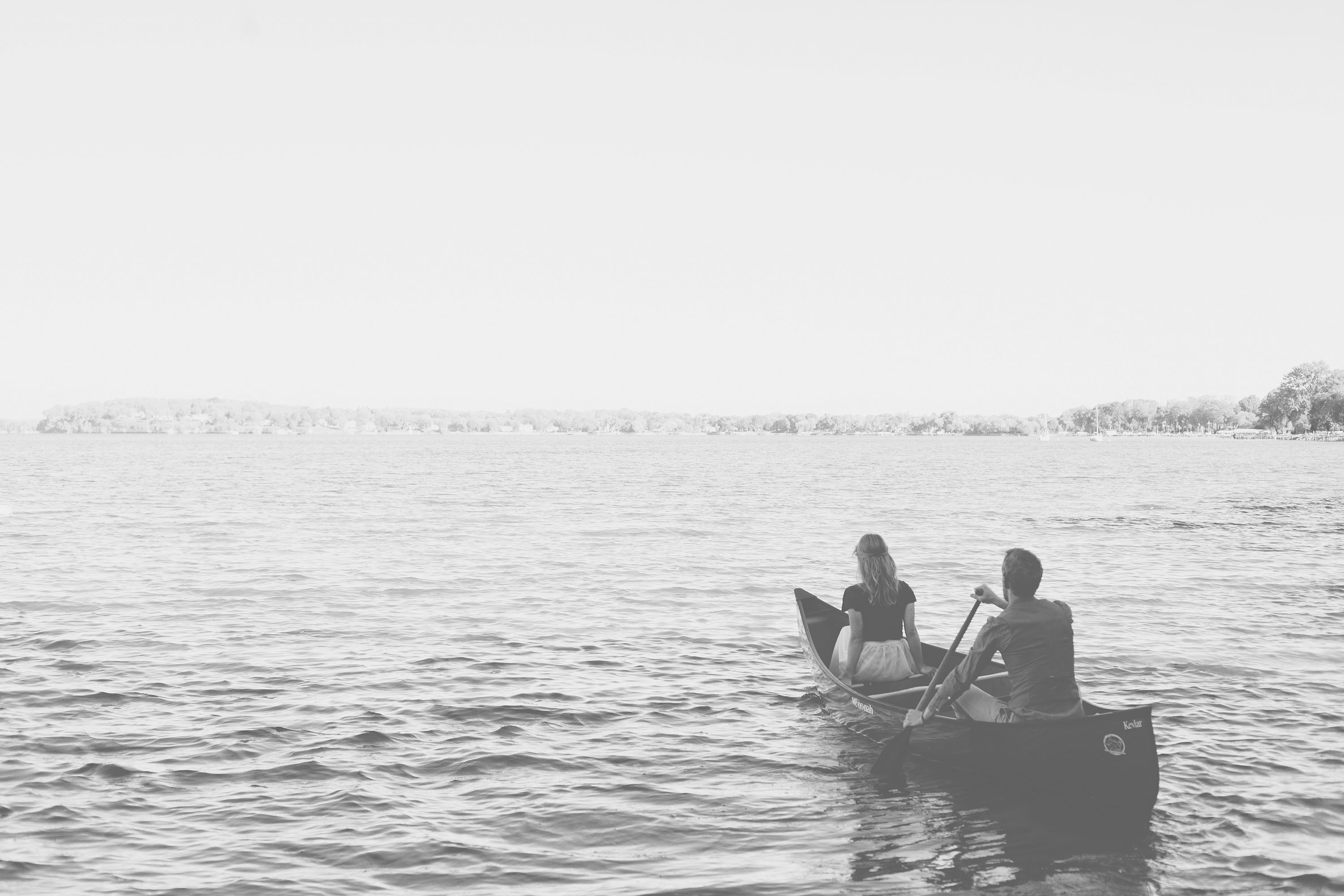 Kinsey Mhire Photography | Canoe Engagement Photos
