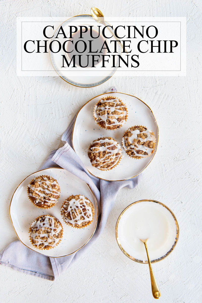 Espresso Cappuccino Chocolate Chip Muffins Recipe with Coffeecake Streusel