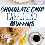Espresso Cappuccino Chocolate Chip Muffins Recipe with Coffeecake Streusel