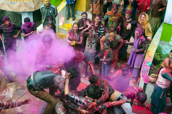 Holi Festival in Dharamsala, India