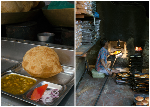 Indian Poori Street Food and Homemade Bread - Amritsar India