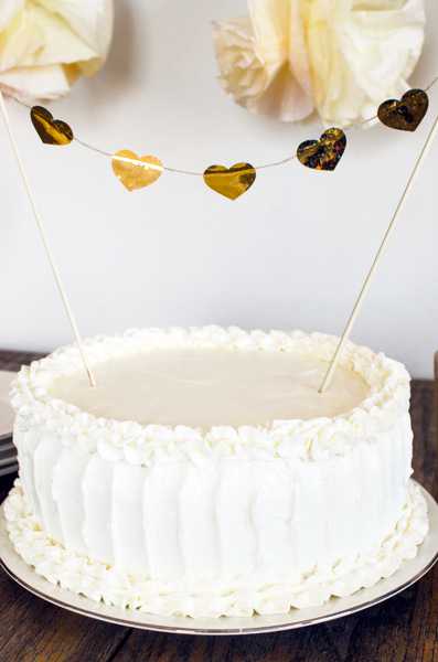 diy rustic wedding cake toppers gold cake topper diy a side of sweet 13619