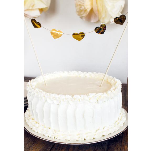 Gold Heart Cake Topper DIY