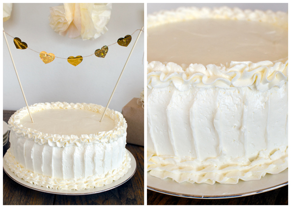 Rustic Wedding Cake Frosting Technique