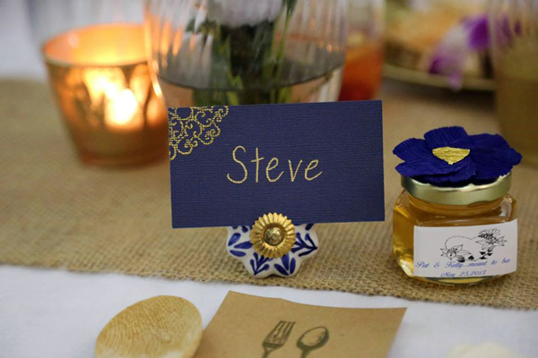 DIY Wedding Place Cards - Use Vintage Drawer Pulls for Place Card Holders