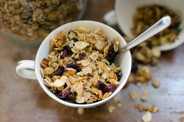 Cherry and Almond Granola Recipe - vegan when you make it with maple syrup