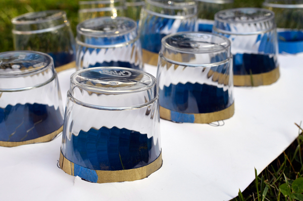 Make Disposable Gilded Plastic Cups - Perfect for a Wedding Place Setting or Party