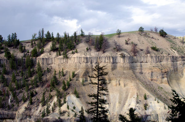 Rock Formations - Driving Yellowstone National Park