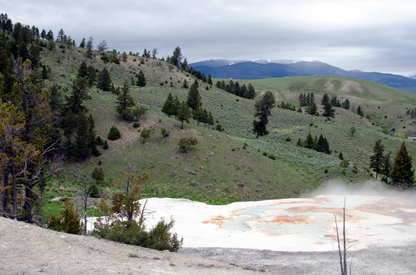 Midway Geyser Basin - Driving Yellowstone National Park