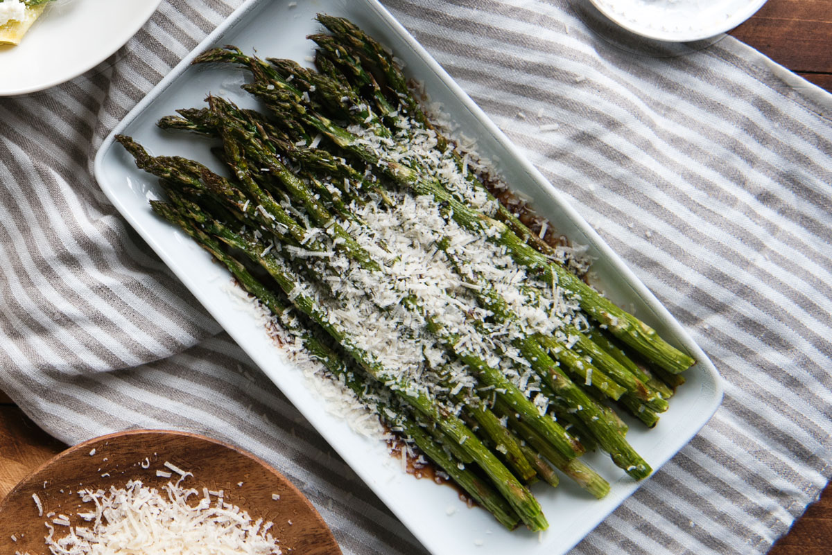 Roasted Asparagus with Balsamic Vinegar & Parmesan - A ...