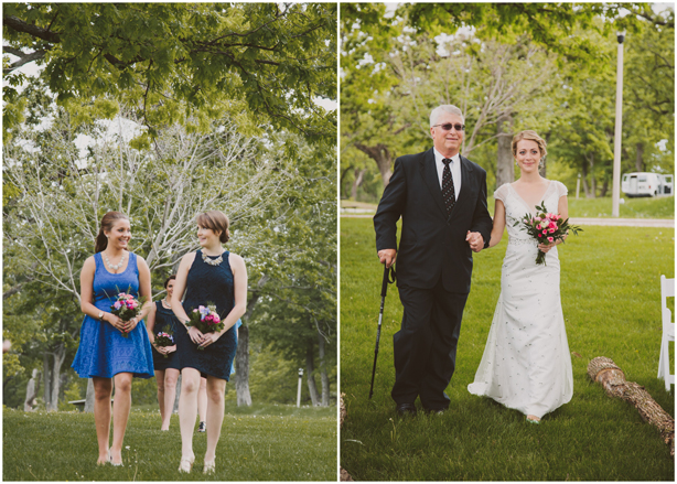 Our Wedding Photos - Blue Bridesmaids Dresses - Kinsey Mhire Photography