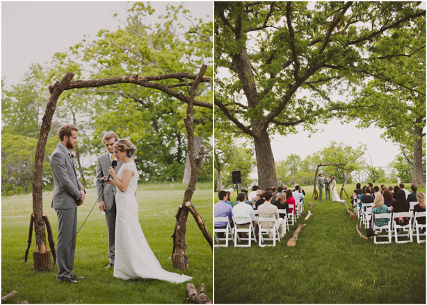 Our Wedding Photos - Small Ceremony in Olin Park - Kinsey Mhire Photography