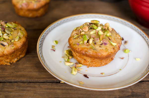 Pistachio Olive Oil Mini Tea Cakes Recipe