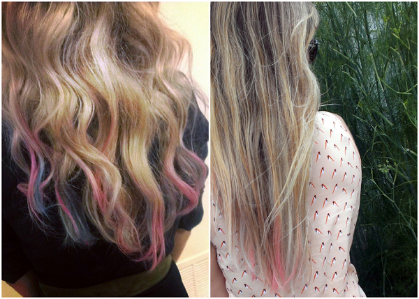DIY Hair Chalking - a temporary way to change your look!