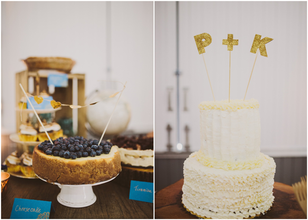DIY Dessert Table with Glitter Cake Topper