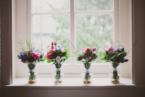 Wedding Details - Gilded Vases