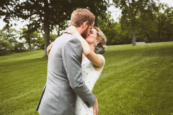 Wedding Photos - Our First Look - Kinsey Mhire Photography