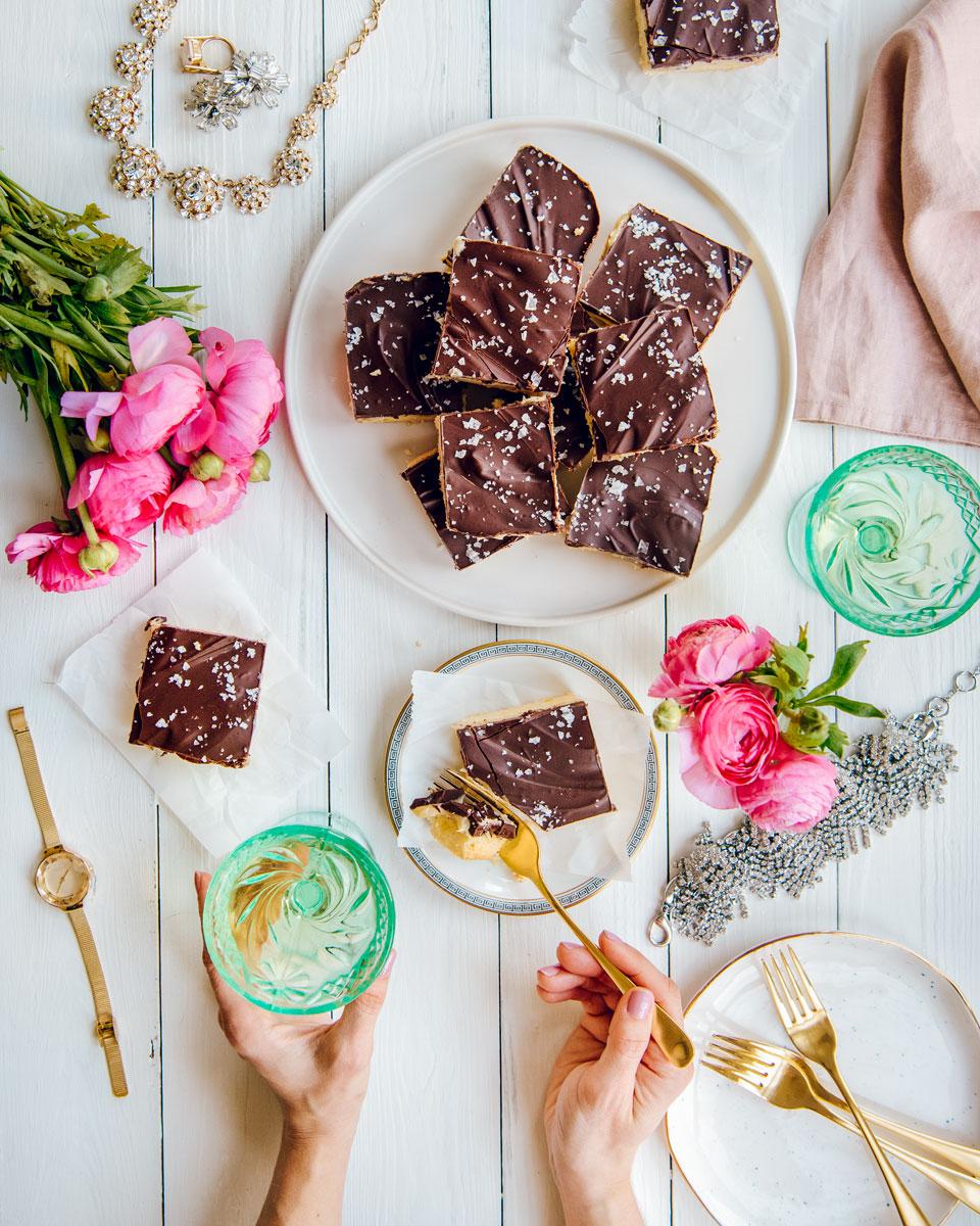 Millionaire Bars Recipe with Shortbread, Sweetened Condensed Milk, Chocolate & Caramel