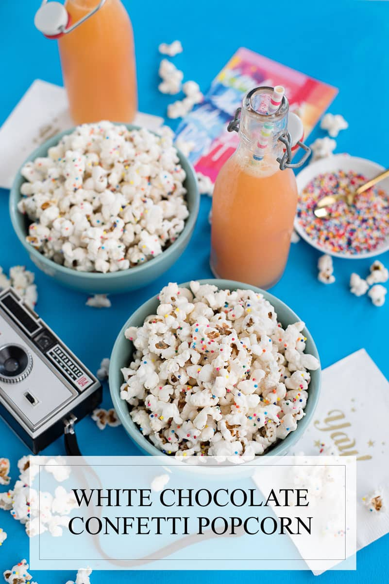 Delicious White Chocolate Confetti Popcorn Recipe
