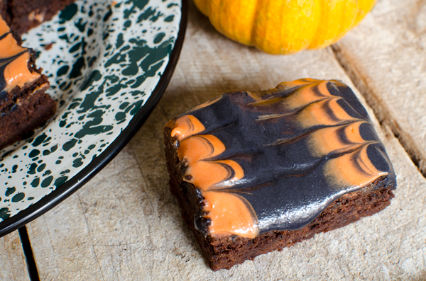 Frosted Halloween Brownies Recipe - Easy and Colorful!