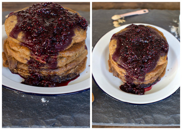 Chai Pancakes with Berry Compote Recipe