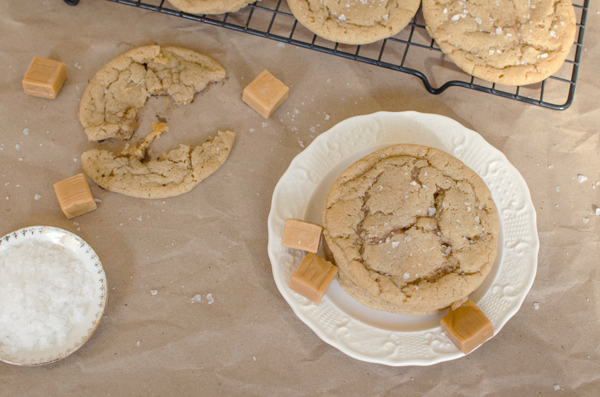 Salted Caramel Brown Butter Sugar Cookies Recipe - Food Blogger Cookie Swap
