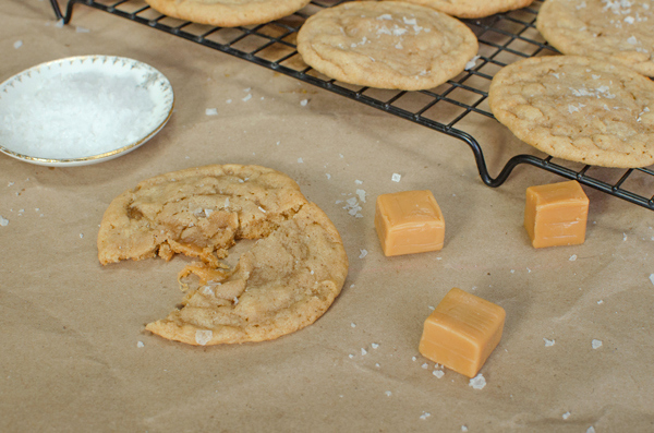 Salted Caramel Brown Butter Sugar Cookies Recipe - Perfect combo of salty and sweet