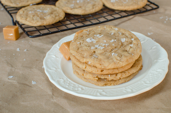 Salted Caramel Brown Butter Sugar Cookies - Food Blogger Cookie Swap
