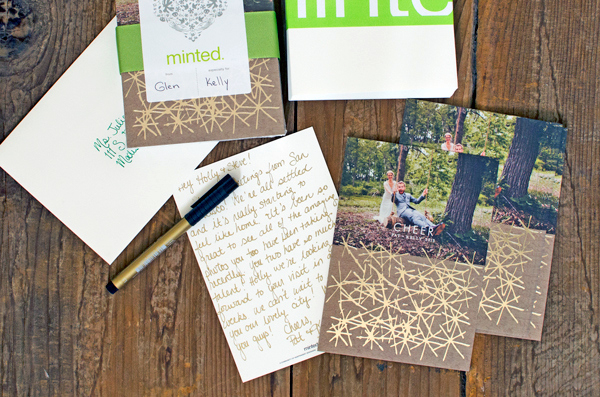Our Holiday Cards + Minted Foil Cards!