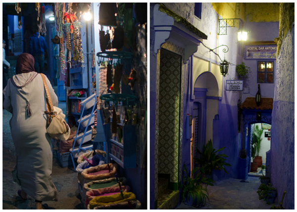 Morocco Honeymoon :: Exploring the Medina at Night - Chefchaouen Morocco